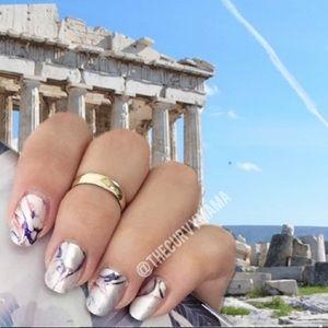 2/$20 Marbelous Incoco nails white purple swirl